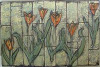 Tulip tile mural by Dean Tile & Design