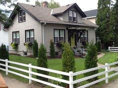 Dark grey exterior black trim white windows exterior - Trim colors for white house ...
