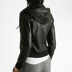 Perfect hooded leather jacket from roots canada. $488 - ouch! http://canada.roots.com/AlexHoodyWashedLeather/WomensLeatherJackets//19020446,default,pd.html?cgid=women&navid;=xsellPVdept