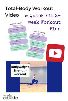 Bodyweight Workout Video & Quick Fit Workout Plan | Thefitcookie.com