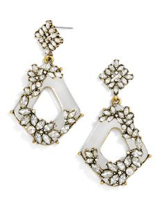 I love the crystal details on this pair! #baublebar #swatstyle #earrings