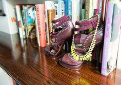 A peek inside Stacy London's closet... oh god those shoes + neon necklace.... mmmmmmmm