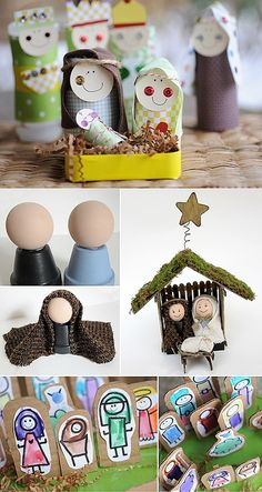 Make your own nativity set -My favourite craft ideas so far are for nativity scenes  the kids can play with them, keep them in their room, and best of allthey can help you make them.