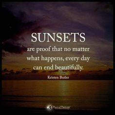 Sunset  - positivismo - recordar y encontrar lo bueno - Positive quote
