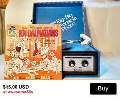 vinyl Disney's 101 Dalmatians read see and hear book