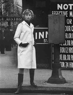 David Bailey, Jean Shrimpton, New York City, 1963.