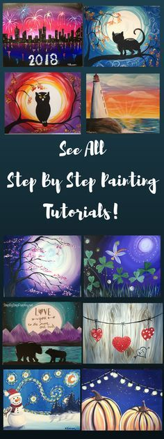 These step by step painting tutorials are so easy! Any beginner will enjoy doing