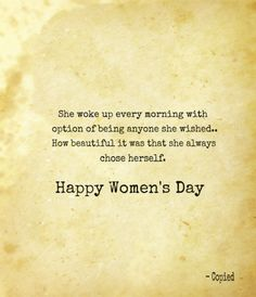 Happy women's day...