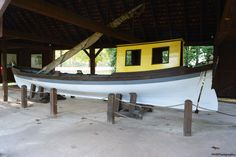 This replica of Penn's boat was built in the latter 1960s by a local shipbuilder with plans drawn up by an architect's utilizing the specifications of a typical river craft of the 17th century, found here in the Colonies, England and in Europe.
