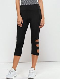 SHARE & Get it FREE | Hollow Out Quick -Dry Capri Workout Pants - BlackFor Fashion Lovers only:80,000+ Items • New Arrivals Daily Join Zaful: Get YOUR $50 NOW!