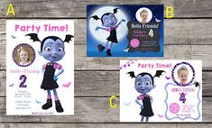 Personalized Disneyu0027s Vampirina Birthday Party Invitation