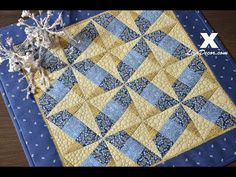 Patchwork Tutorial - X Block (Gold) Patchworkové šablony LizaDecor.com - YouTube