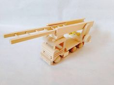Wooden Fire Truck by FriendsOfForest on Etsy