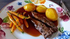 Lammfilet mit Rotwein-Rosmarin-Sauce Pot Roast, Recipies, Food Porn, Food And Drink, Cooking Recipes, Beef, Dishes, Ethnic Recipes, Flora