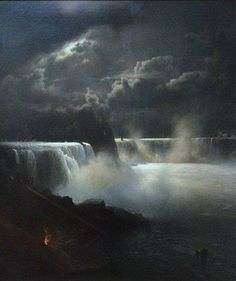 Hermann Ottomar Herzog (1832–1932), View of Niagara Falls in Moonlight,