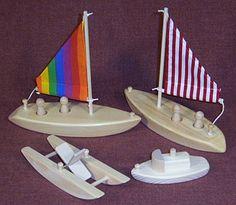 wooden toy bathtub boats