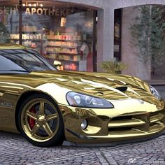 I'm not so keen on Golden cars? What do you guys think about them ? Still an amazing car though! #Viper