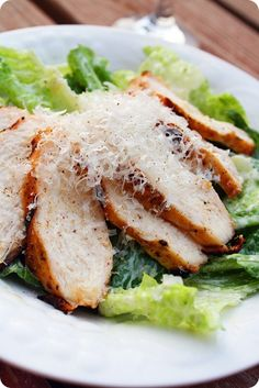The Comfort of Cooking: Creamy Caesar Salad with Herb Grilled Chicken Grilled Chicken Ceasar Salad, Chicken Salad, Vinaigrette, Great Recipes, Dinner Recipes, Dinner Ideas, Meal Ideas, Yummy Recipes, Cooking Recipes