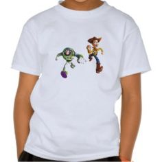 Toy Story Buzz Lightyear Woody running T Shirts