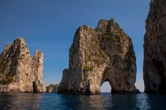 """Lover's Arch off the island of Capri. Credit Sara Fox (Source: The New York Times """"A Honeymoon Through Italy"""")"""