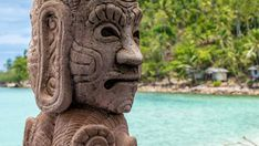 Mystic Skulptur on Haad Salat Beach in Koh Pangan. Hill with Coconut Palms in Background, Thailand Phuket Travel, Thailand Travel Guide, Bangkok Travel, Visit Thailand, Bangkok Thailand, Best Beaches In Phuket, Leopard Shark, Species Of Sharks, Best Rooftop Bars