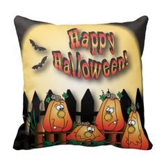 #Halloween #Pumpkin Night #Pillow #decor #zazzlebesties #holiday #zazzle