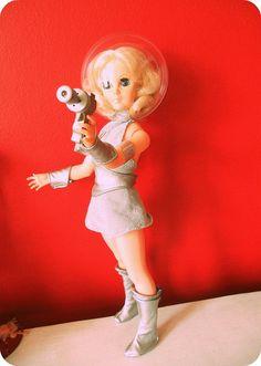 Retro Space girl doll  http://www.flickr.com/photos/10805620@N08/5581400623/in/faves-kukumiku/