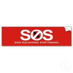SOS save our sharks, stop finning!