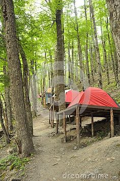 Tent platforms