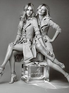 """My Burberry"" Campaign | Kate Moss & Cara Delevingne | Mario Testino"