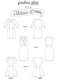 Le patron de la robe Aldaia est conçu pour les tissus mailles. Aldaia est facile à enfiler et à ajuster grâce aux découpes princesses et aux pinces.
