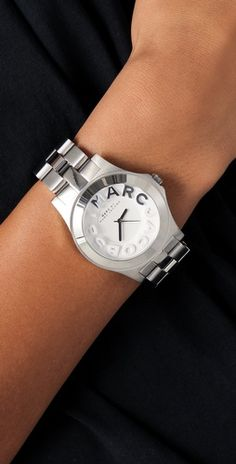 Marc by Marc Jacobs Metal Rivera Logo Watch.. wow this looks better than the rose gold one <3