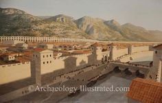 Antioch on the Orontes River 2nd century AD by Balage Balogh-www.Archaeologyillustrated.com
