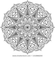 Find Adult Mandala Coloring Page Vector Illustration stock images in HD and millions of other royalty-free stock photos, illustrations and vectors in the Shutterstock collection. Thousands of new, high-quality pictures added every day. Mandala Coloring Pages, Coloring Book Pages, Coloring Sheets, Colouring, Mandala Dots, Mandala Design, Zentangle Patterns, Zentangles, Trippy Drawings