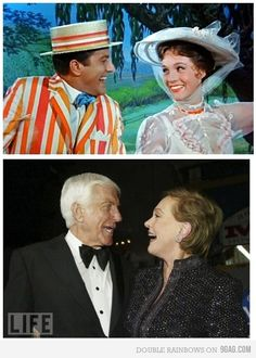 disney disneyland Mary Poppins Julie Andrews Dick Van Dyke Face Character look a like bert mary and bert bert and mary practically perfect Disney Love, Disney Magic, Disney Couples, I Smile, Make Me Smile, Movies Showing, Movies And Tv Shows, Disney Pixar, Disney Films