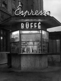 Little Bunny Sunshine - furtho: Café in Budapest, (via here) Buffet, Cafe Concept, Gates Of Hell, Cities In Europe, Old Signs, History Photos, Art Deco Design, Illustrations And Posters, Store Fronts