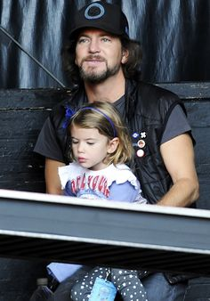 Eddie Vedder and his daughter Harper Vedder attend the 26th Annual Bridge School Benefit in Mountain View, California on October 20th, 2012.