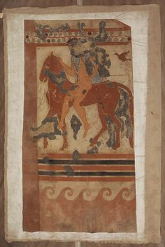 "Original in the Tomba del Triclinio (Tarquinia, c. 470 B.C.). South Wall. Labelled ""Tomba del Fondo."""