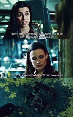 """""""You'd be surprised what tools can save a life."""" Amanda Young, Saw 3 Shawnee Smith Saw Quotes, Movie Quotes, Scary Movies, Good Movies, Awesome Movies, Movies Showing, Movies And Tv Shows, Jigsaw Movie, Saw Iii"""