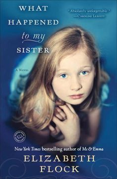 This book blew me away. In a very good way. What Happened to My Sister by Elizabeth Flock is the continuation of a story titled Emma and Me, but I did not know that. I had never read anything by Flock, and picked up What Happened to My Sister knowing very little about it.