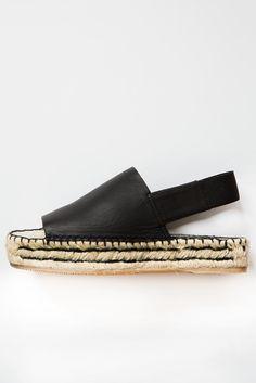 palomitas black sandal