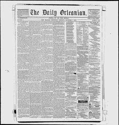ORLEANS PARISH, Lousiana - New Orleans -1852--58 - L'Orleanais - Google News Archive Search