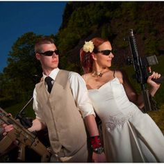 Wedding day. #Prepper Style BAHAHAHA!! Searched for prepper stuff and found THIS!