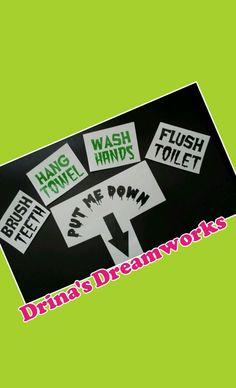 Restroom Mirror Decals & Toilet Decal