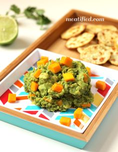 Mango Guacamole I'm not really pinning the recipe - just the idea of replacing the tomato with mango, since my guacamole recipe is otherwise AIP compliant.