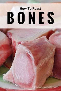 How To Roast Bones For Bone Broth, Homemade Stock and Marrow - - Properly roasted bones are important for quality and flavor. Find out the benefits of roasting bones and how to roast bones for making bone broth, homemade stock, or eating bone marrow. Chicken Bone Broth Recipe, Bone Broth Soup, Making Bone Broth, Bone Marrow Broth, Beef Broth, Canning Recipes, Gourmet Recipes, Beef Recipes, Soup Recipes