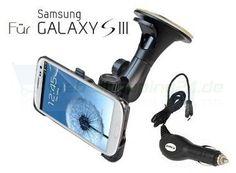 KFZ Autohalterung für Samsung Galaxy S3 i9300 + Ladegerät