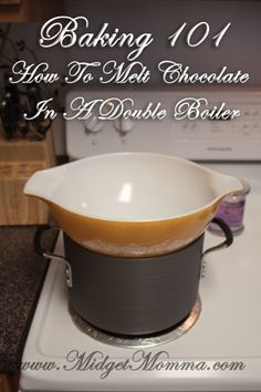How To Melt Chocolate In A Double Boiler How To Melt Chocolate In A Double Boiler - you can buy a double boiler or make your own double boiler at home to melt chocolate and it is really easy to do<br> Melt Chocolate For Dipping, Melting Chocolate Chips, Chocolate Bark, How To Melt Chocolate, Baking Tips, Baking Recipes, Bread Recipes, Candy Recipes, Dessert Recipes