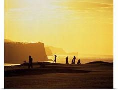 The Irish Image Collection Poster Print Wall Art Print entitled Ballycastle Golf Club, Co Antrim, Ireland, None