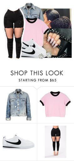 """""""💄"""" by eazybreezy305 ❤ liked on Polyvore featuring R13, NIKE, Saks Fifth Avenue, bts and 2017"""